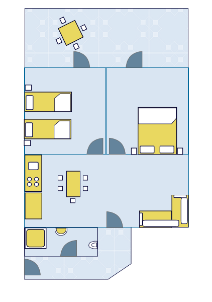 Ground-plan of the apartment - 3 - 4+2